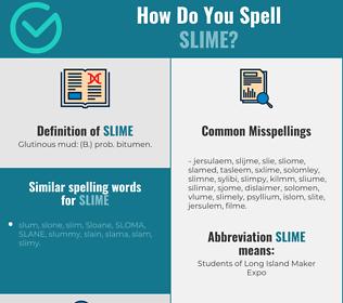 Correct spelling for slime