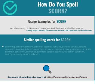 Correct spelling for scorn