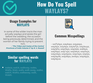 Correct spelling for waylays