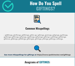 Correct spelling for giftings