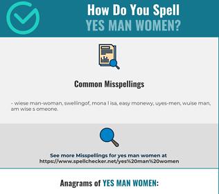 Correct spelling for yes man women