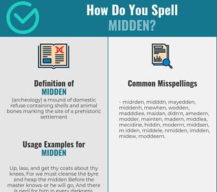 Correct spelling for midden