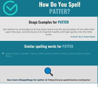Correct spelling for patter