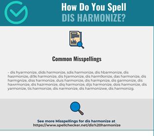 Correct spelling for dis harmonize