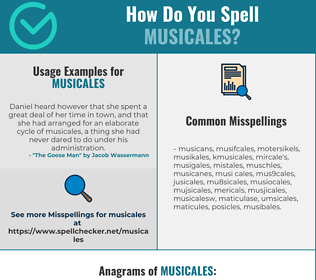 Correct spelling for musicales