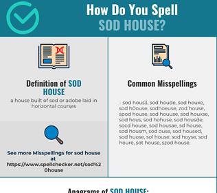 Correct spelling for sod house