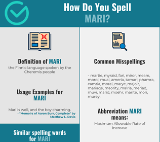 Correct spelling for mari