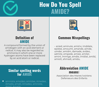 Correct spelling for amide