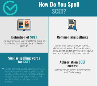 Correct spelling for scet