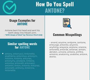 Correct spelling for Antone