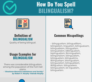 Correct spelling for Bilingualism
