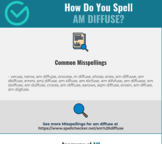 Correct spelling for am diffuse