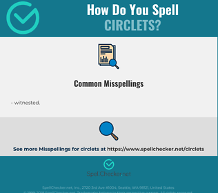 Correct spelling for circlets