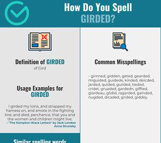 Correct spelling for Girded