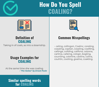 Correct spelling for Coaling