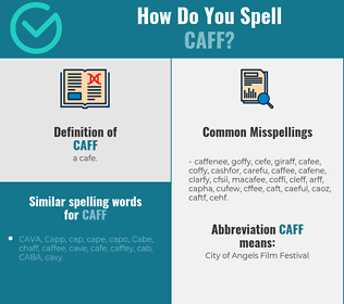 Correct spelling for caff