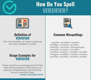 Correct spelling for versifier
