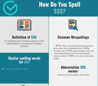 Correct spelling for SSS