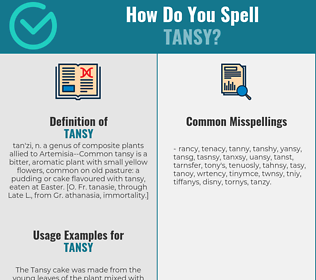 Correct spelling for tansy