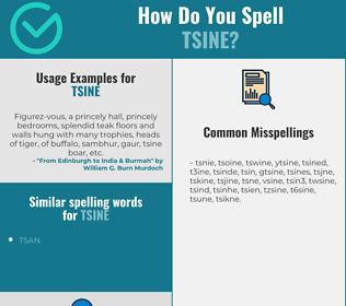 Correct spelling for tsine