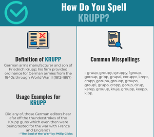 Correct spelling for krupp