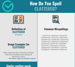 Correct spelling for Clattered