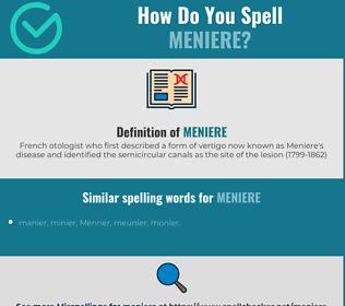 Correct spelling for meniere