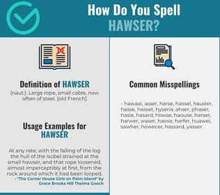 Correct spelling for hawser