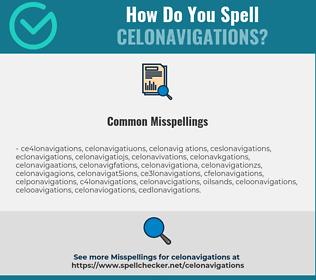 Correct spelling for celonavigations