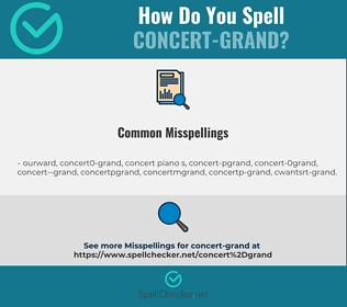 Correct spelling for concert-grand