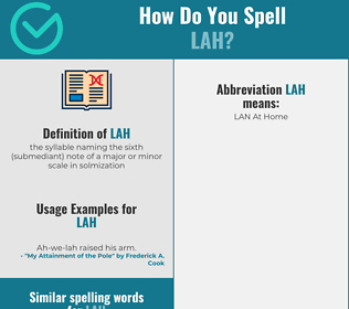Correct spelling for lah