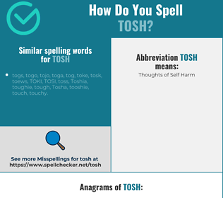Correct spelling for tosh