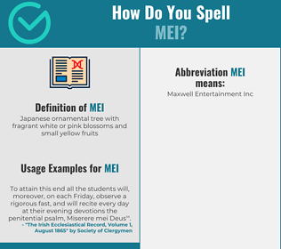 Correct spelling for mei