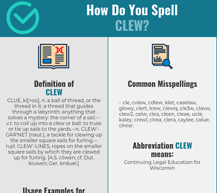Correct spelling for clew