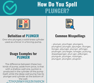 Correct spelling for plunger
