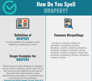 Correct spelling for drapery