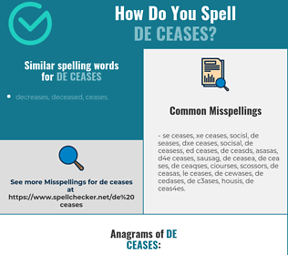 Correct spelling for de ceases