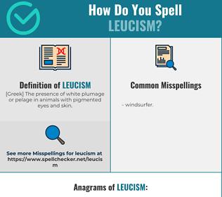Correct spelling for leucism