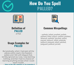 Correct spelling for Palled