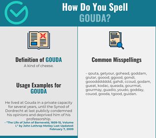 Correct spelling for gouda