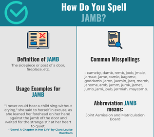 Correct spelling for jamb