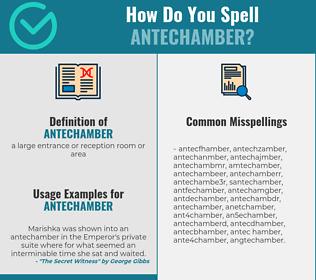 Correct spelling for antechamber