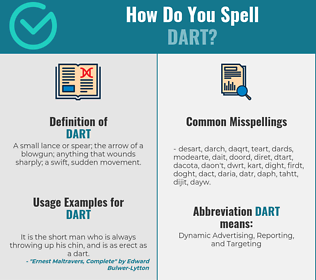 Correct spelling for dart
