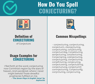 Correct spelling for Conjecturing