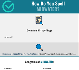 Correct spelling for midwater