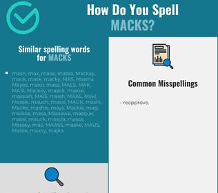Correct spelling for macks