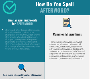 Correct spelling for afterword