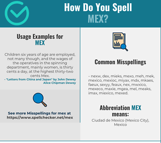 Correct spelling for MEX