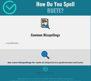 Correct spelling for ruete