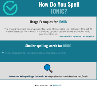 Correct spelling for ionic